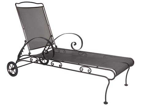 OW Lee Avalon Wrought Iron Adjustable Chaise