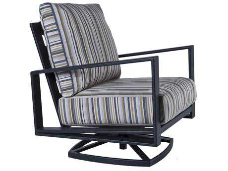 Ow Lee Gios Aluminum Swivel Rocker Club Chair Ow4535sr