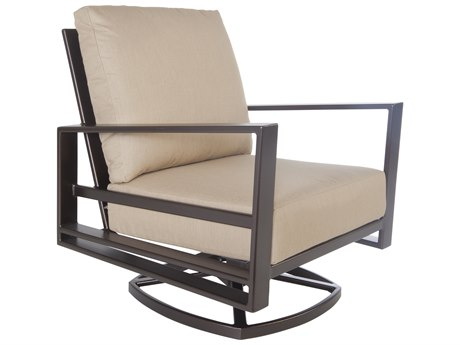 OW Lee Gios Aluminum Swivel Rocker Club Chair