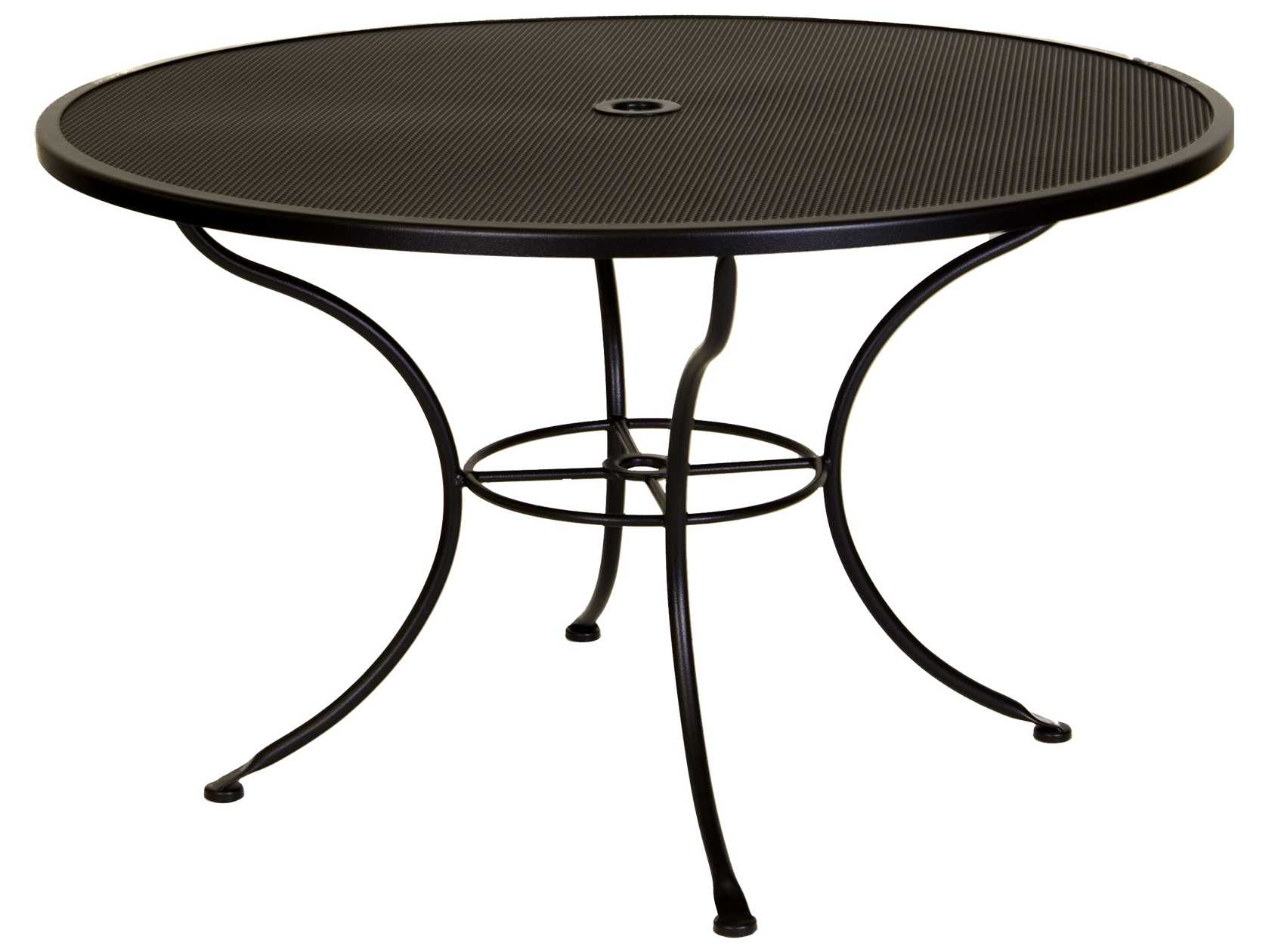 Ow Lee Mesh Wrought Iron 48 Round Dining Table With