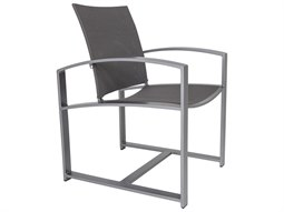 OW Lee Pacifica Wrought Iron Sling Dining Arm Chair