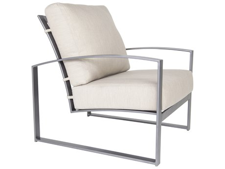 OW Lee Pacifica Wrought Iron Cushion Lounge Chair