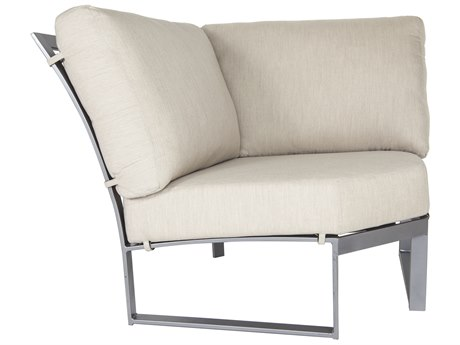 OW Lee Pacifica Wrought Iron Cushion Corner Sectional