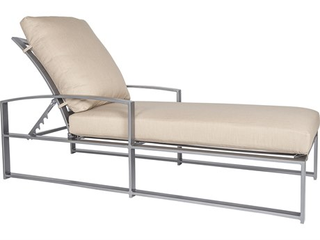 OW Lee Pacifica Wrought Iron Cushion Adjustable Chaise
