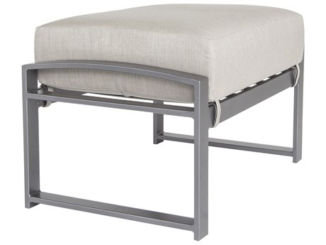 OW Lee Pacifica Wrought Iron Cushion Ottoman