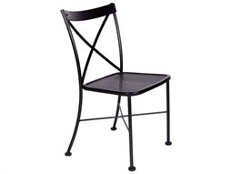 OW Lee Villa Wrought Iron Metal Side Dining Chair