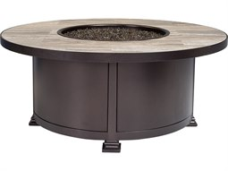 OW Lee Casual Fireside Santorini Wrought Iron 42'' Wide Round Occasional Height Fire Pit Table