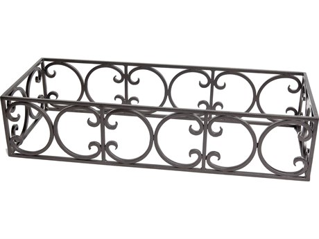 OW Lee Casual Fireside Wrought Iron Ornate Rectangle Fire Pit Guard