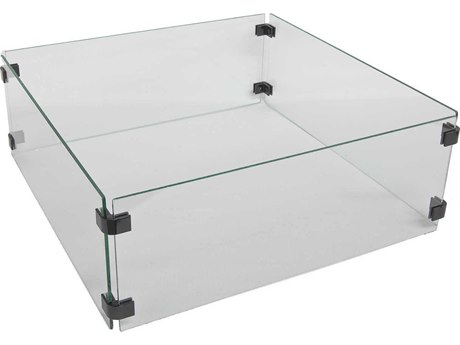 OW Lee Casual Square Glass Fire Guard