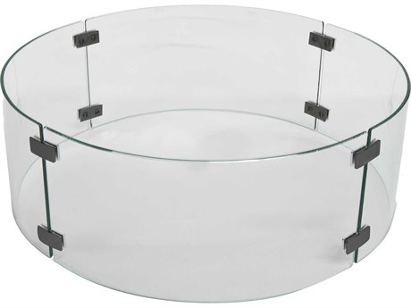 OW Lee Casual Small Round Glass Fire Guard