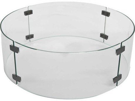 OW Lee Casual Extra Small Round Glass Fire Guard