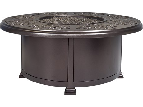 OW Lee Casual Fireside Hacienda Aluminum 42'' Wide Round Occasional Height Fire Pit Table