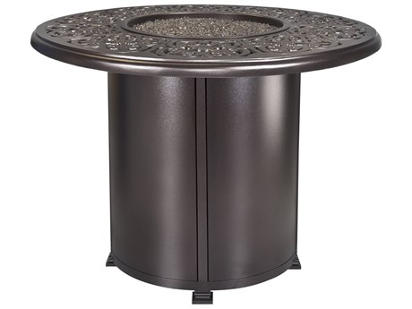 OW Lee Casual Fireside Hacienda Aluminum 54'' Wide Round Counter Height Fire Pit Table