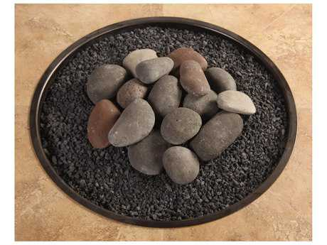 OW Lee Casual Fireside Hi-Heat Ceramic Rock Kit with Lava Granules