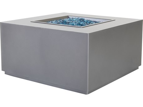 OW Lee Casual Fireside Forma Aluminum 35'' Wide Square Occasional Height Fire Pit Table