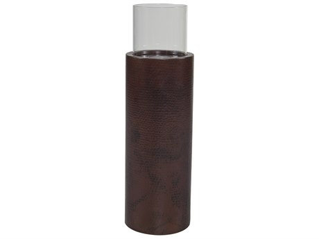 OW Lee Casual Fireside 33 Tall Copper Pillar