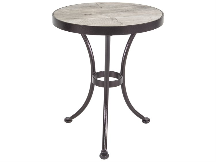 OW Lee Accent Wrought Iron 20 Round Side Table