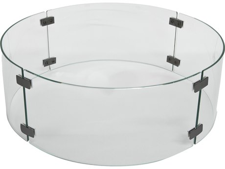 OW Lee Casual Fireside Small Round Glass Guard PatioLiving