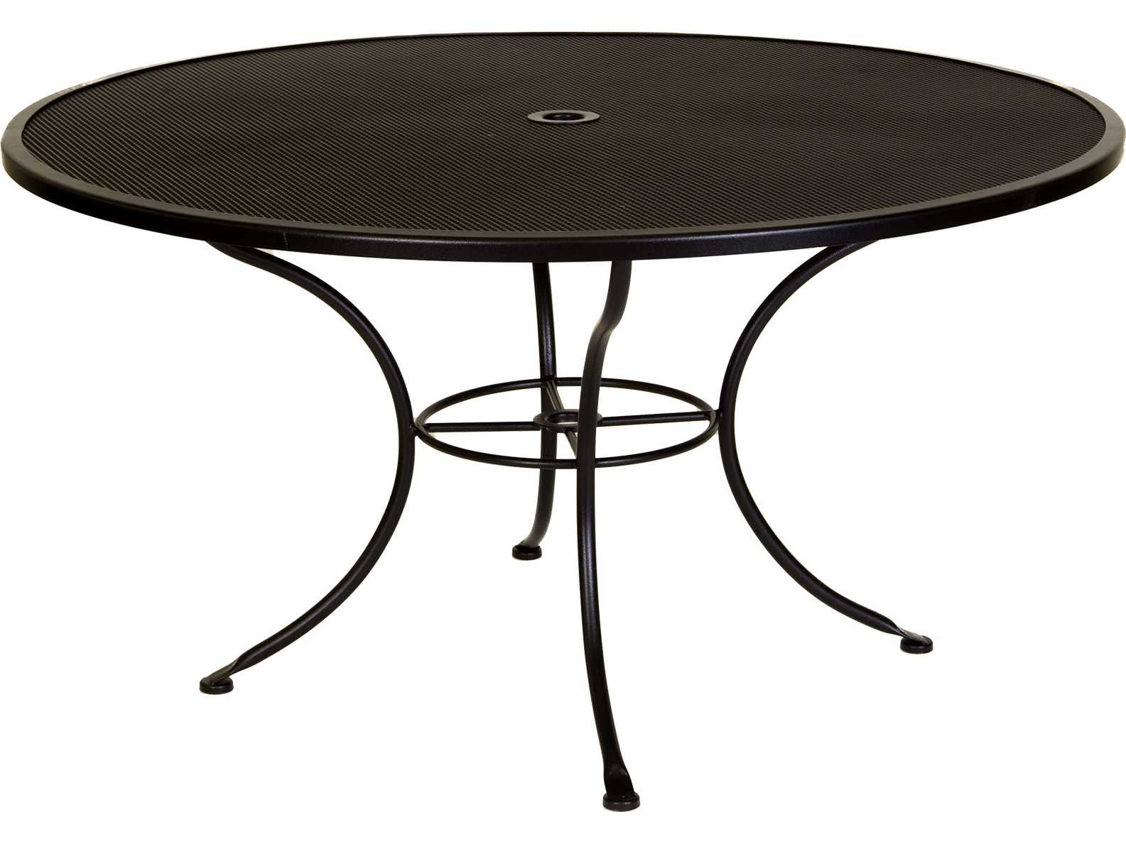 Ow Lee Micro Mesh Wrought Iron 54 Round Dining Table With
