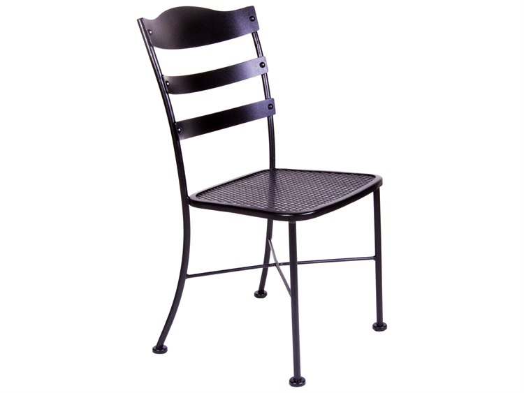 OW Lee Chalet Wrought Iron Side Chair PatioLiving