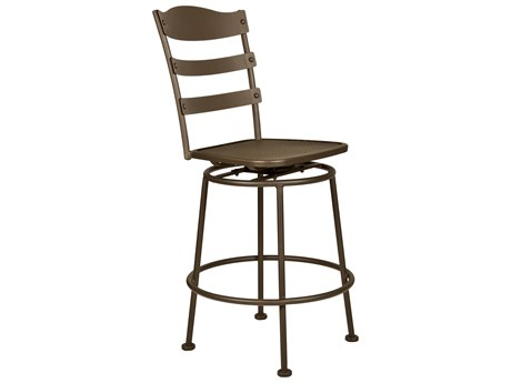 OW Lee Chalet Wrought Iron Armless Swivel Counter Stool