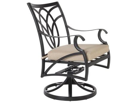 OW Lee Belle Vie Aluminum Swivel Rocker Dining Arm Chair