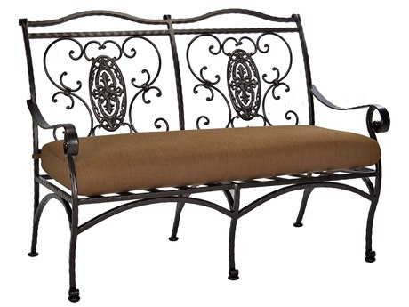 OW Lee San CristobalWrought Iron Two Seat Bench