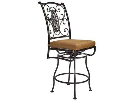 OW Lee San Cristobal Wrought Iron Swivel Counter Stool Side Chair