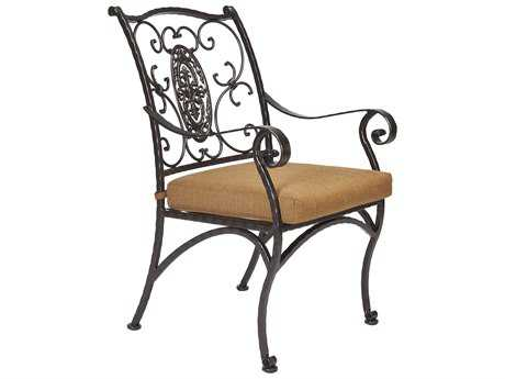 OW Lee San Cristobal Wrought Iron Dining Arm Chair