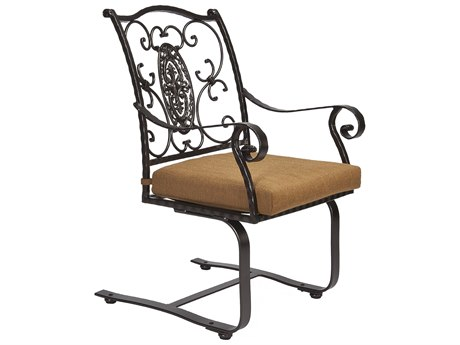 OW Lee San Cristobal Wrought Iron Spring Base Dining Arm Chair