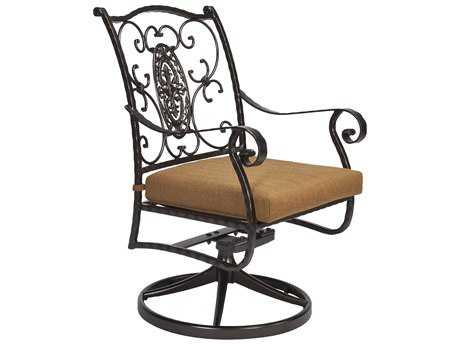 OW Lee San Cristobal Wrought Iron Swivel Rocker Dining Arm Chair