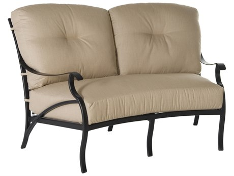 OW Lee Grand Cay Aluminum Crescent Loveseat