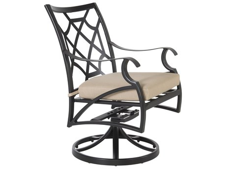 OW Lee Grand Cay Aluminum Swivel Rocker Dining Chair
