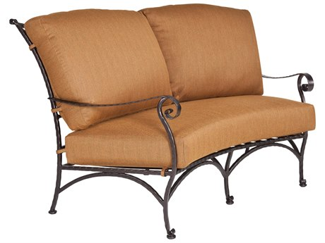 OW Lee San Cristobal Wrought Iron Crescent Loveseat