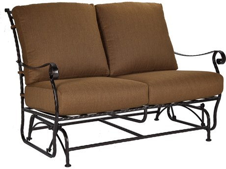 OW Lee San Cristobal Wrought Iron Two Seat Sofa Glider