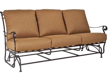 OW Lee San Cristobal Wrought Iron Three Seat Sofa Glider