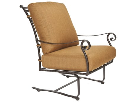 OW Lee San Cristobal Wrought Iron Spring Base Club Chair