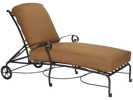 OW Lee San Cristobal Wrought Iron Adjustable Chaise Lounge