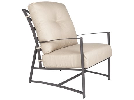 OW Lee Ridgewood Wrought Iron Cushion Lounge Chair