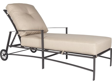 OW Lee Ridgewood Wrought Iron Cushion Adjustable Chaise