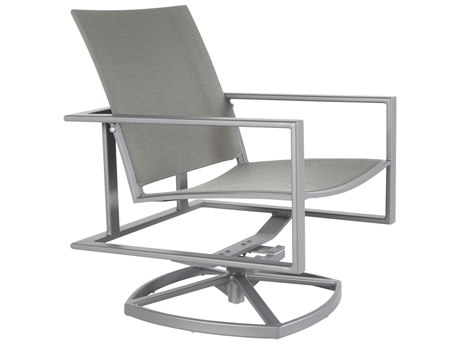 OW Lee Studio Aluminum Flex Comfort Swivel Rocker Lounge Chair
