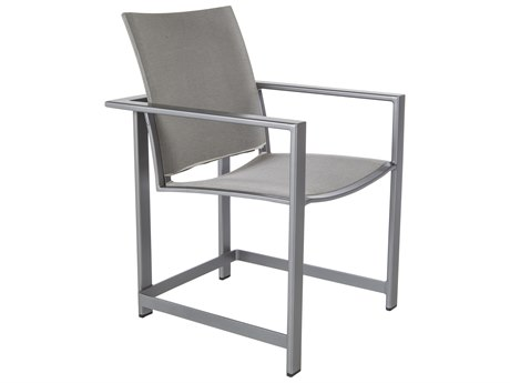 OW Lee Studio Aluminum Flex Comfort Dining Arm Chair