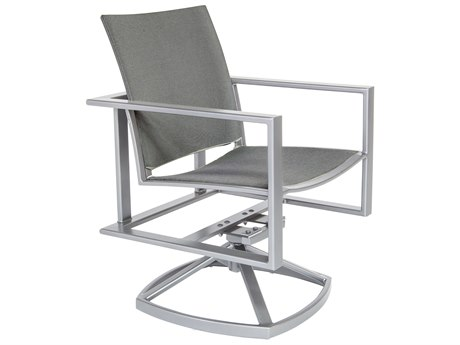 OW Lee Studio Aluminum Flex Comfort Swivel Rocker Arm Chair