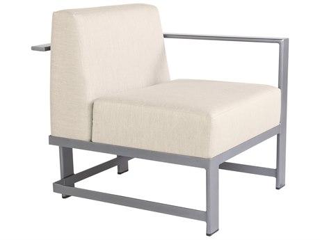 OW Lee Studio Aluminum Left Arm Lounge Chair