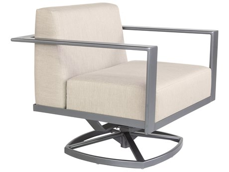 OW Lee Studio Aluminum Swivel Rocker Lounge Chair