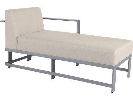 OW Lee Studio Aluminum Left Arm Chaise Lounge