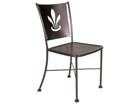 OW Lee Signature Wrought Iron Side Chair - Custom Lazer Cut Designed Back