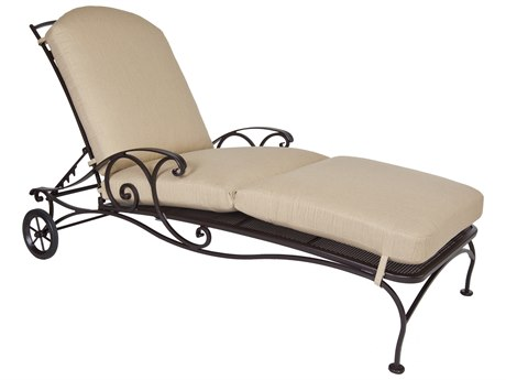 OW Lee Siena Wrought Iron Adjustable Chaise Lounge