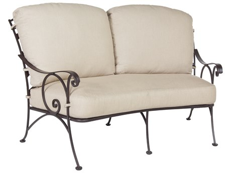 OW Lee Siena Wrought Iron Crescent Loveseat