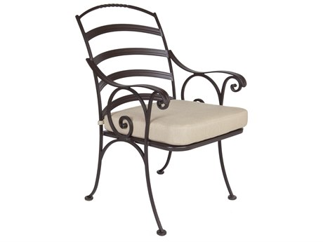 OW Lee Siena Wrought Iron Dining Arm Chair